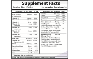 Careall male supplement facts